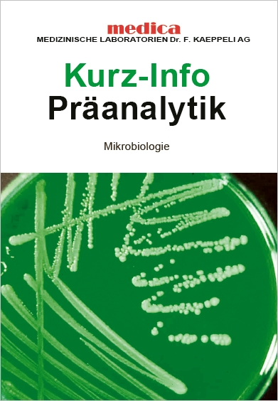 Praeanalytikflyer Mikrobiologie